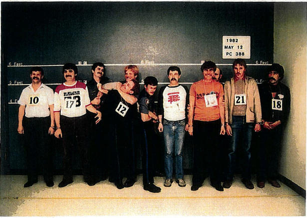 Ivan Henry is number 12 in this lineup photograph introduced into evidence at his 1983 criminal trial.